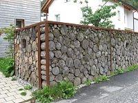 log wall - Haldenstein, Switzerland