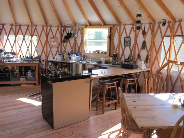 Www.shelterdesigns.net Nice Kitchen Area In A 27u0027 Shelter Designs Yurt