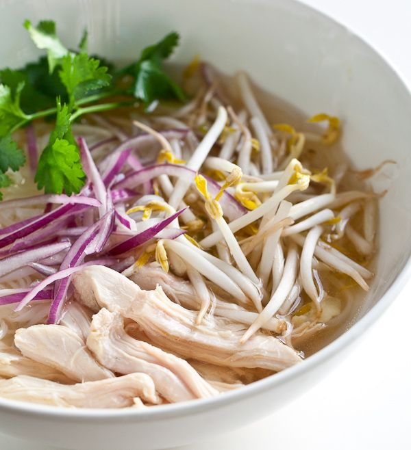 Homemade slow cooker chicken pho ga. Looks good & doable for a non-cook! Gonna try this sometime.