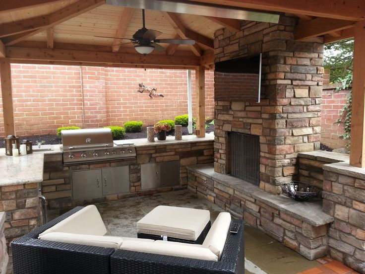 Granite Covered Countertops : living, outdoor kitchen, covered patio, granite countertops, stone ...