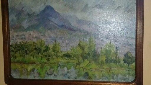 Paisaje de Medellin - Oleo