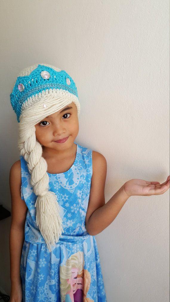 Elsa braidelsa frozen hatdisney crochet by iLovechaRmingYarNs