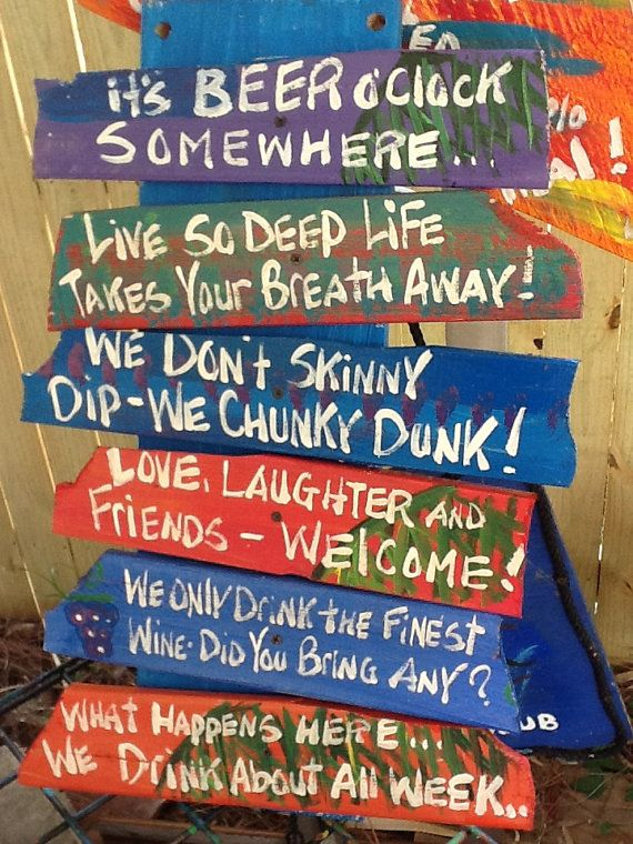 Selling off some ACCIDENTS: OOPS One of a kind  sign of signs for pool or tiki bar by RhondaK, $35.00