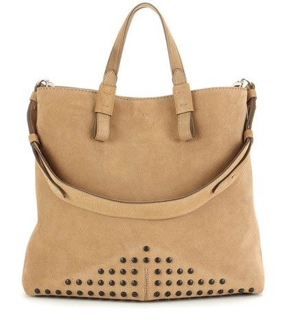 GOMMINO EMBELLISHED SUEDE SHOPPER TOD'S