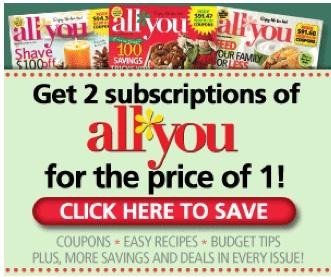 Ends 1/7! All You Magazine Deal: $9.97 each wyb 2 - http://www.livingrichwithcoupons.com/2013/01/ends-17-all-you-magazine-deal-9-97-each-wyb-2.html