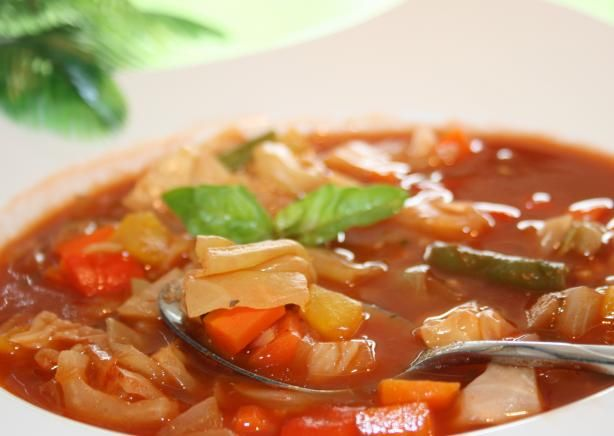 weight watchers cabbage soup...I'd add more veggies and spices but I love cabbage soup!