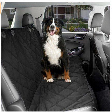 Seat Covers For Dogs | Deluxe Dog Seat Cover For Cars Trucks Vans & Suvs | Keep Your Back Seat Clean And Pet Hair Free | Easy To Install Elegant Heavy Duty Waterproof Hammock Style Protector by DTC