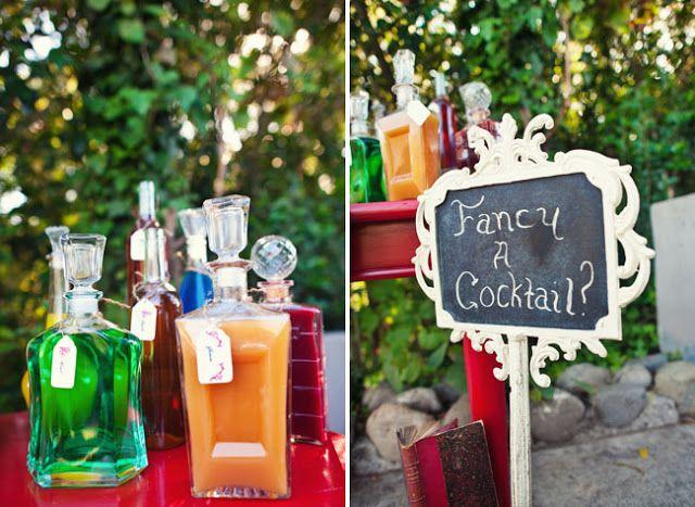 Les moineaux de la mariée: Bar à sirops