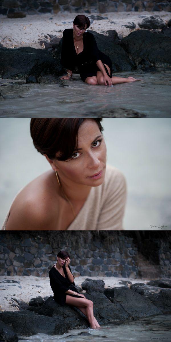 [Visitez mon site jennalefevre.com] Séance Portrait de Femme remportée par Ursula dans les Caraïbes, sur la plage. Photographe spécialisée en portraits de femmes. Make-up. Disponible en Martinique. #jennalefevre #makeup #pregnancy #shooting #martinique