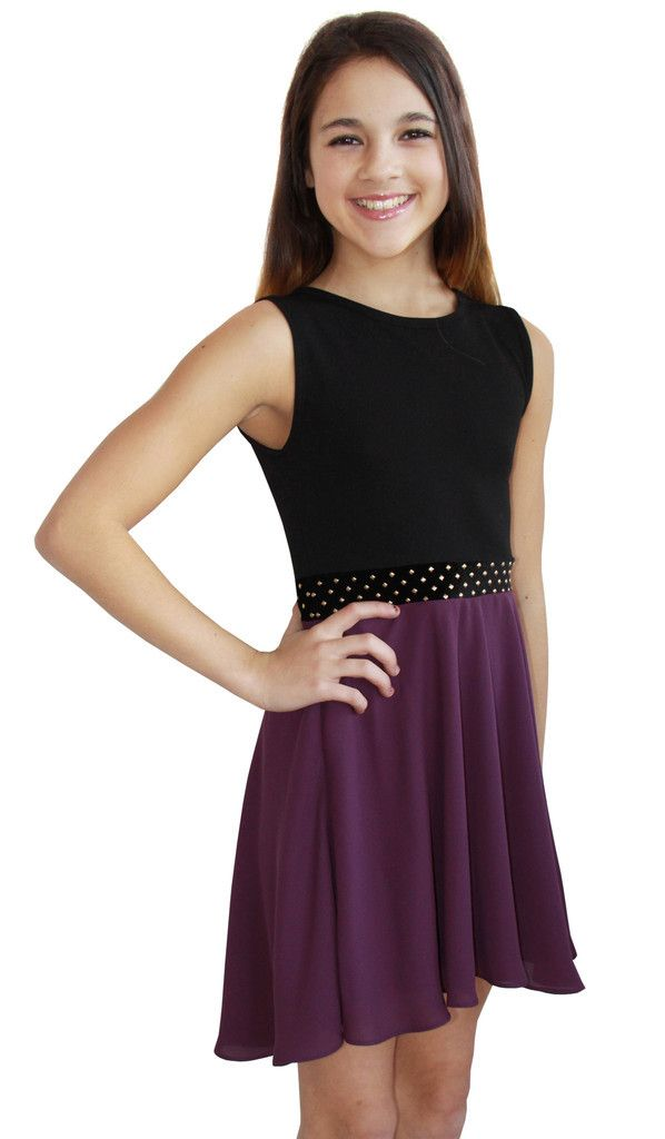 Stunning contemporary tween style dress, made in the USA by Sally Miller, is a great dress for many special occasions!