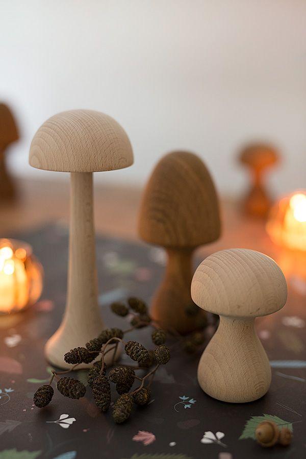 """applicata holzpilze """"funghi""""/ wunderschoen-gemacht shop"""
