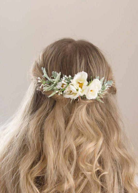 Boda flor peine  novia elegante casco peine  Floral peine