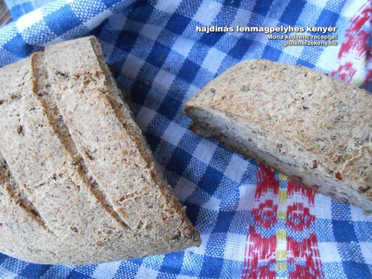 Hajdinás lenmagpelyhes gluténmentes kenyér - Mona kedvencei Érdemes többféle gluténmentes lisztből, pehelyből sikérhelyettesítőkből saját recepteket kikísérletezni. Ez Mona egyik kedvenc gluténmentes kenyér receptje, amely napokig puha marad.