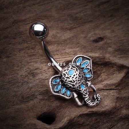 Ganesha Elephant Head Belly Button Ring