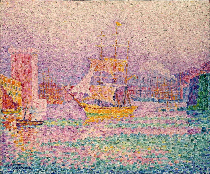 Paul Signac - The Harbour at Marseilles