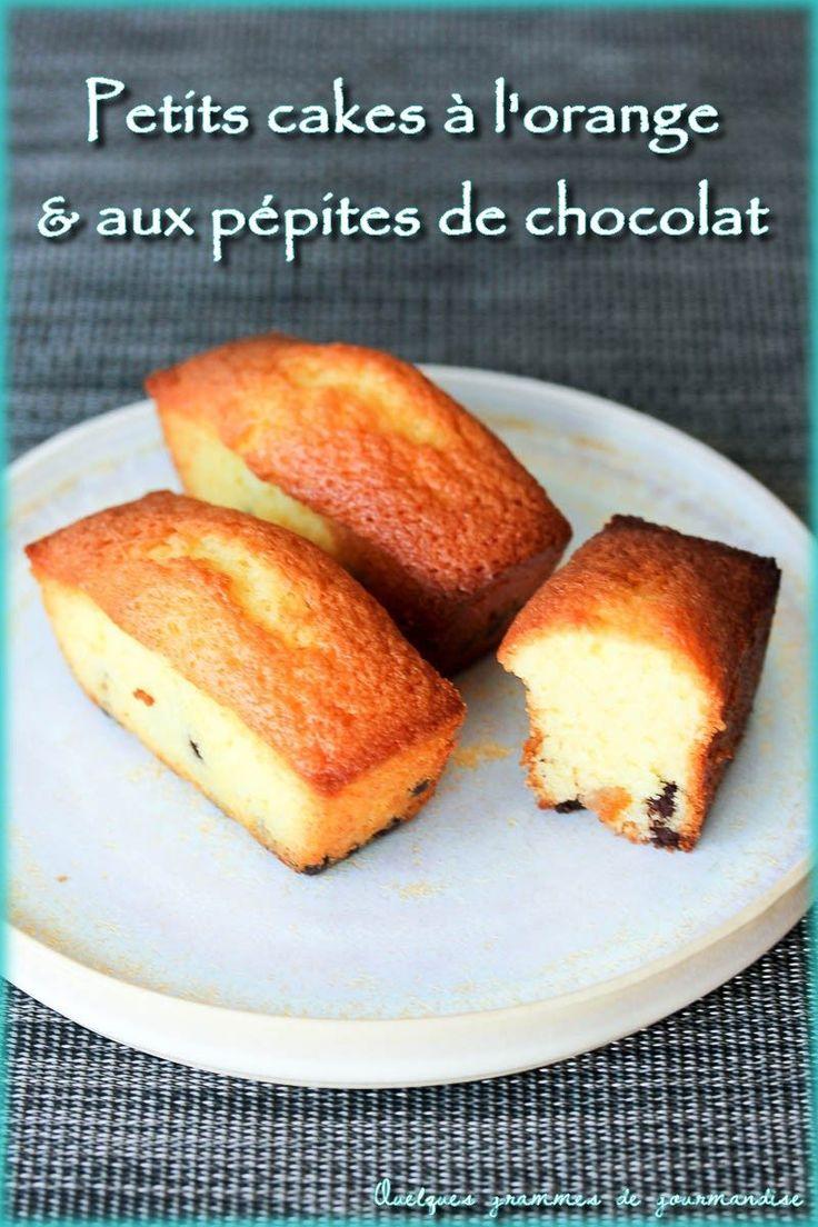 Petits cakes à l'orange et aux pépites de chocolat