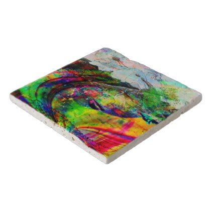 Abstract Tropical Fantasy Trivet -nature diy customize sprecial design
