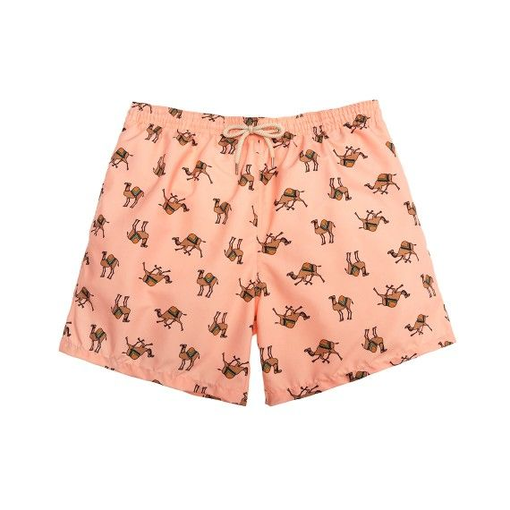 Peach camels swim short /  bañador camellos color melocoton