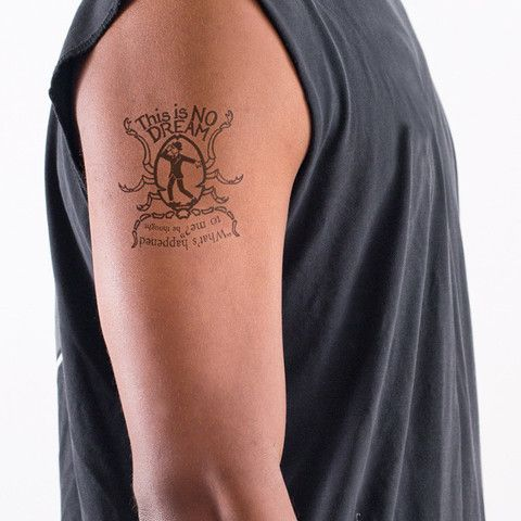 Super cool, this one. Temporary Literary Tattoos | Litographs