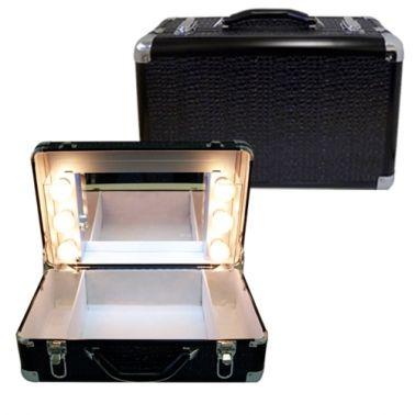 Valise maquillage avec éclairage ampoules