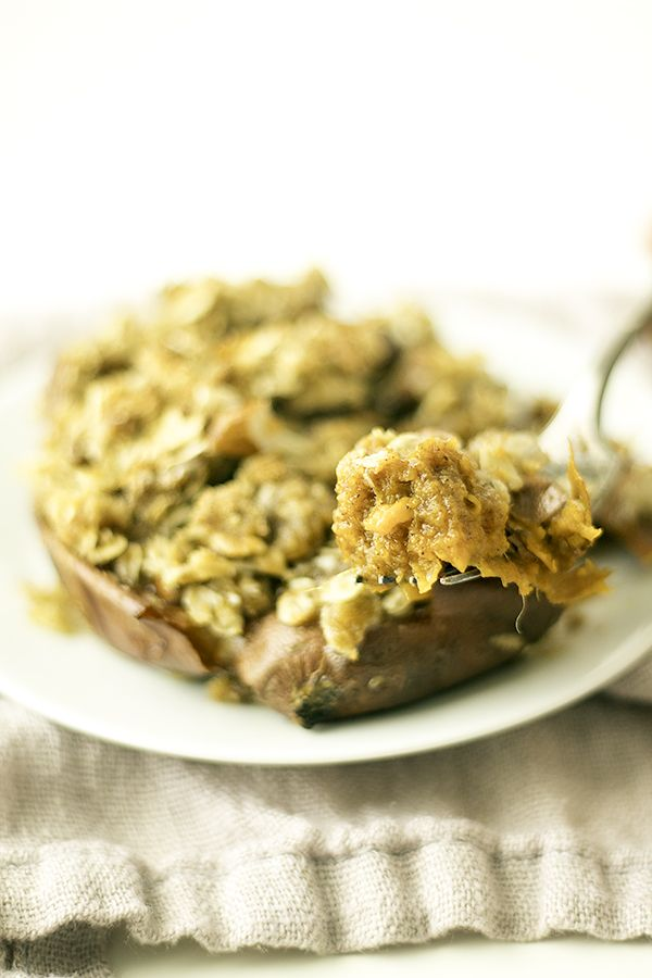 streusel topped twice baked sweet potatoes are the perfect fall or winter breakfast
