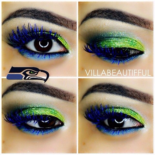 #seahawks #makeup #villabeautifful