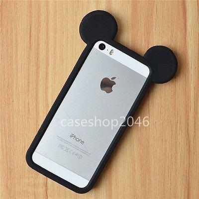 Dibujos animados lindo Disney Mickey Mouse De Silicona Bumper Funda Protectora Para iphone6 Plus 5s
