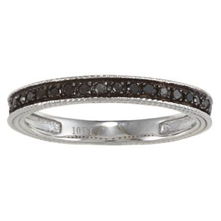 @Overstock - Engraved Pave-set black diamond band 10-karat white gold jewelry Click here for ring sizing guide  http://www.overstock.com/Jewelry-Watches/10k-White-Gold-1-6ct-TDW-Engraved-Black-Diamond-Band/6735266/product.html?CID=214117 $179.99