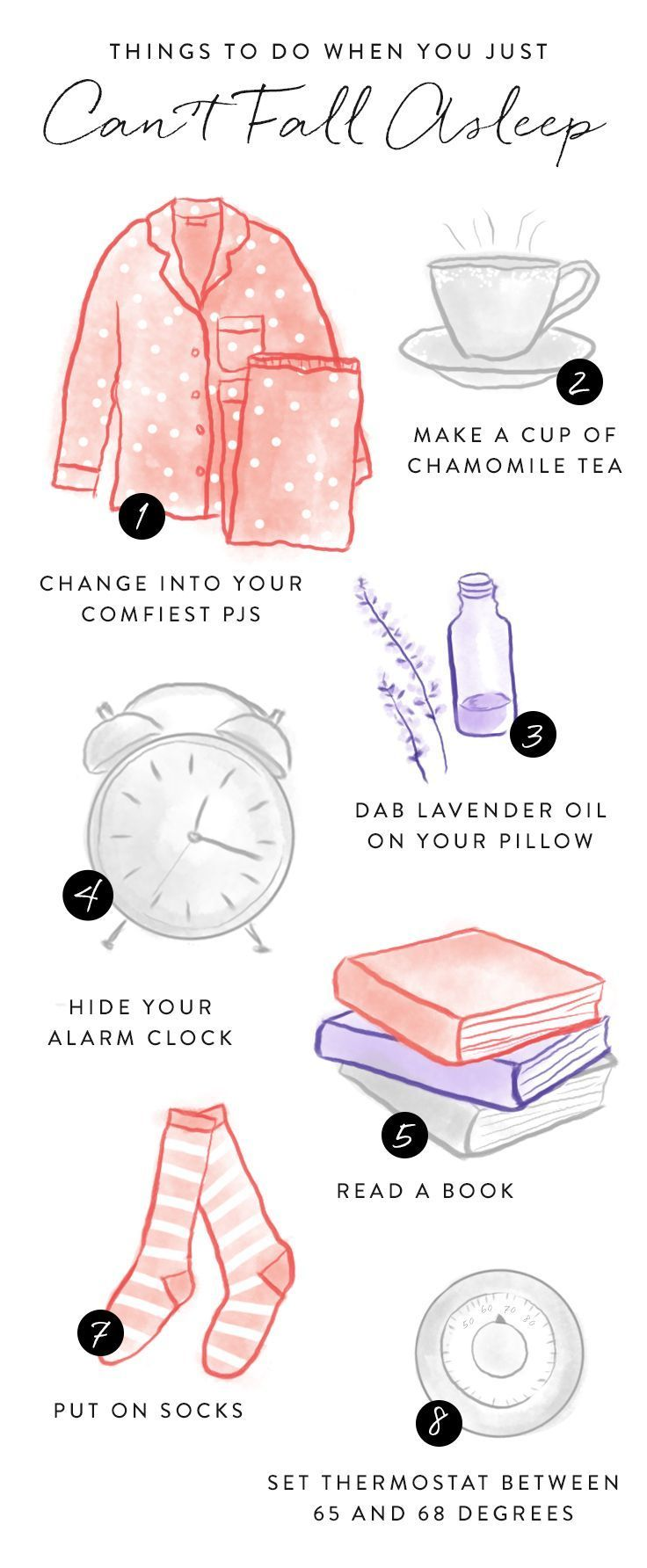 Try these tactics when you can't fall asleep to induce snoozing.