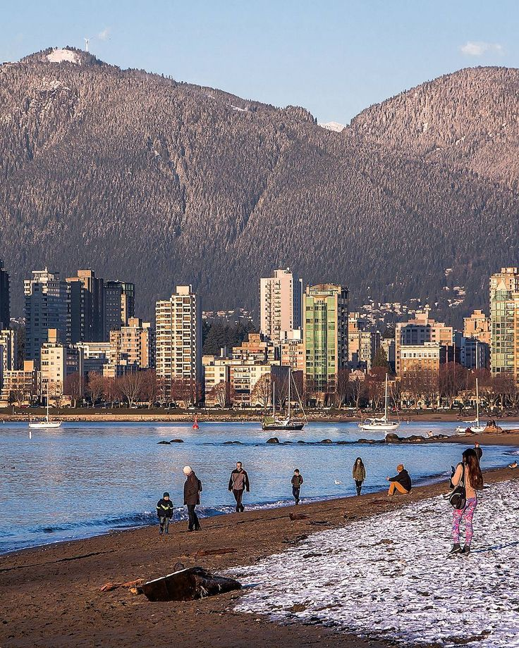 "Sand & Snow  . The glorious view from Kits Beach to ""The Peak"" at @GrouseMountain both covered in snow on the last day of fall. Looking over English Bay to the West End of Vancouver and beyond to one of our local ski resorts  Captured from Kitsilano in Vancouver British Columbia Canada  December 20 2017  . . . . . #Kitsilano #KitsBeach #Vancouver @Vancouver_Canada #VeryVancouver #VisitaVancouver #CuriocityVan #VancityFeature #Photos604 #604Now #VancouverIsAwesome #ExploreBC #ExploreCanada…"
