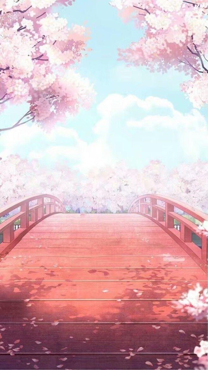 Sakura Di 2020 Pemandangan Khayalan Fotografi Alam Pemandangan Anime
