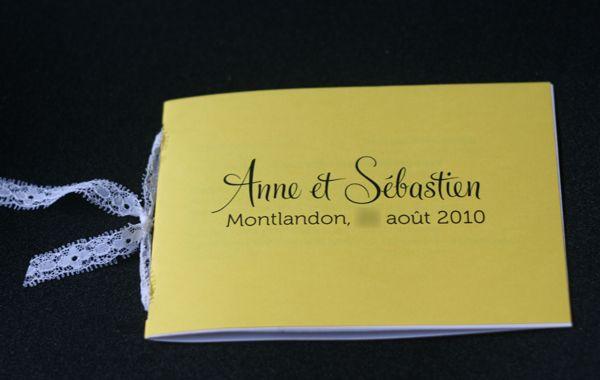 J-20 : Livrets de cérémonie et (bonne) compagnie | Mademoiselle Dentelle