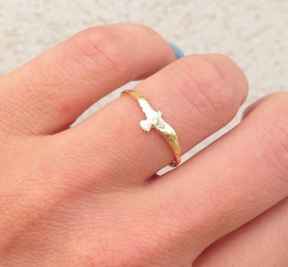 20% off- SALE!! Gold Bird Ring - Stacking ring - Animal Ring - Gold Ring - Minimalist Jewelry - Tiny Ring - Simple Ring by HolyLandJewelry on Etsy https://www.etsy.com/listing/227158103/20-off-sale-gold-bird-ring-stacking-ring