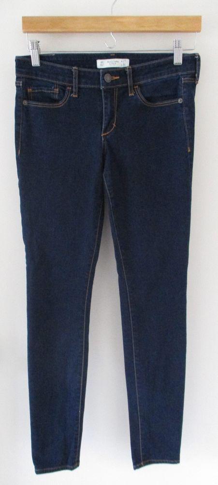 Abercrombie and Fitch The A&F Super Skinny Dark Wash Jeans Sz 4 R Womens Denim #AbercrombieFitch #LeggingsSlimSkinny