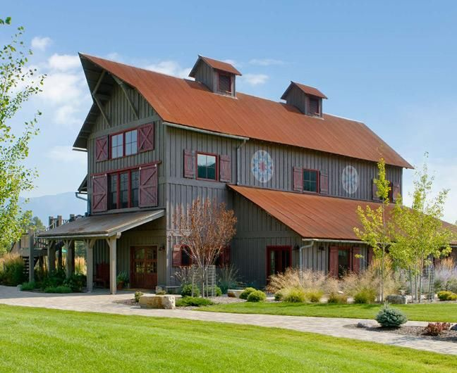 25 best ideas about converted barn homes on pinterest for Pictures of metal buildings converted into homes