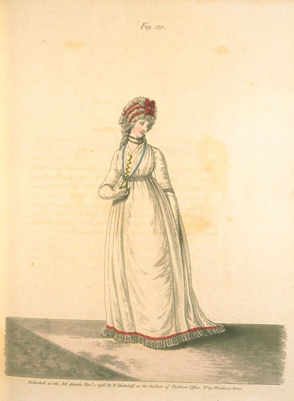 Afternoon Dress, November 1796, Gallery of Fashion