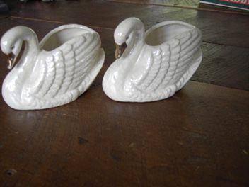 Ceramic Swans