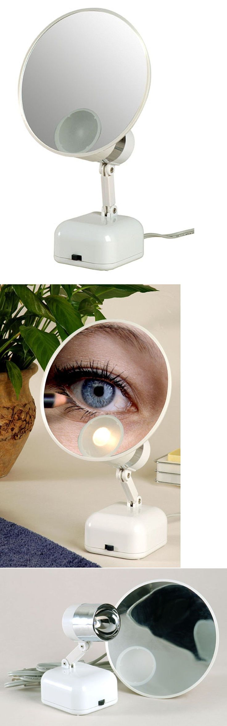 Makeup Mirrors: Floxite 15X Supervision Magnifying Mirror Light White BUY IT NOW ONLY: $56.85