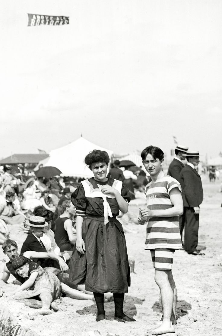 """CONEY ISLAND, New York, c.1904. Notice  banner at the top is from a balloon. """"above all Bosticks"""""""