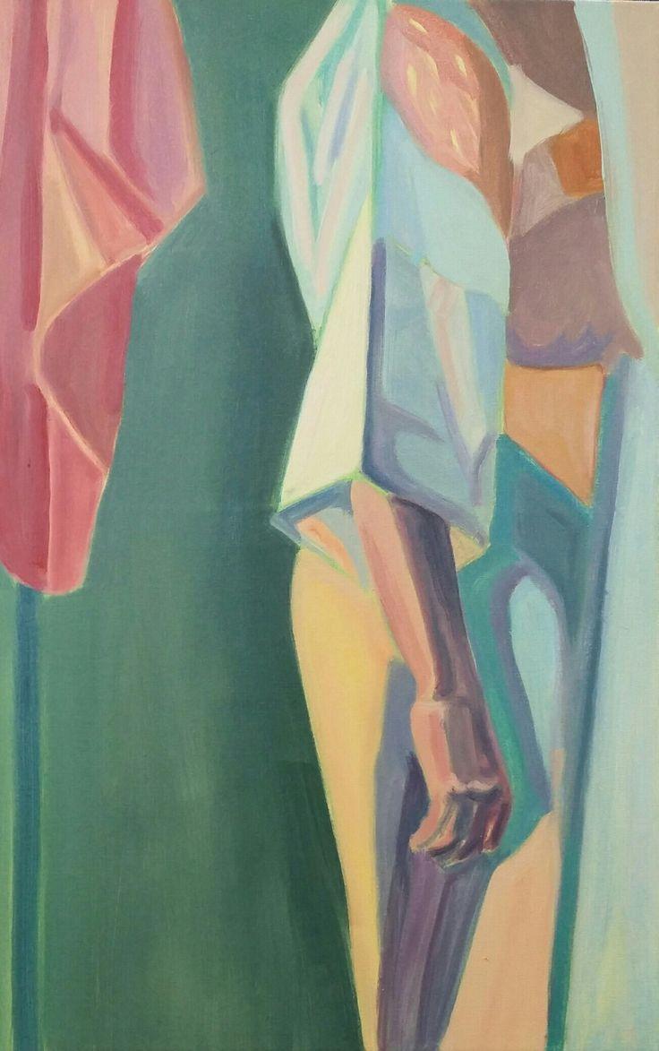 Aleksandra Badurska, oil on canvas, 2016