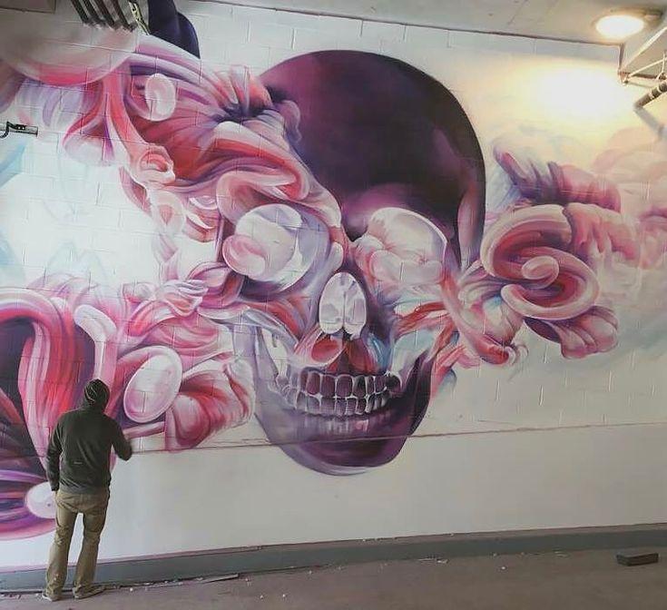 Obra creada por el artista urbano Steve Locatelli en mural en la ciudad de Nueva York
