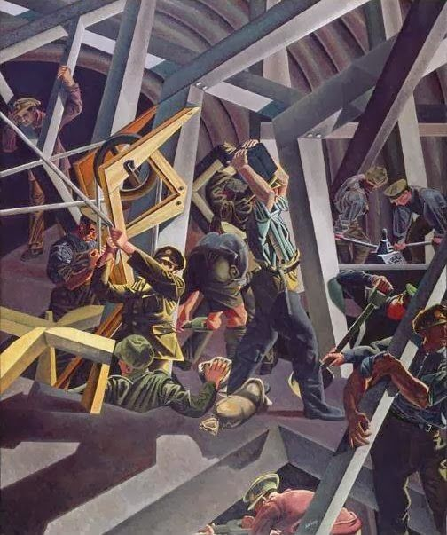 David Bomberg, Sappers At Work, A Canadian Tunnelling Company, 1919
