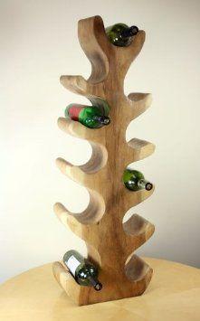 11 Soporte para botellas de vino de madera maciza                              …