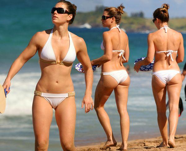 Jessica beil at a nude beach