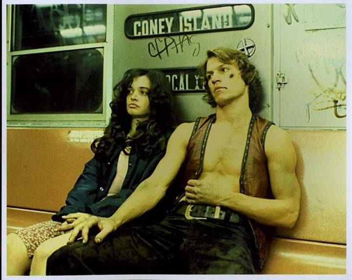 Mercy and Swan resting in the subway, from The Warriors