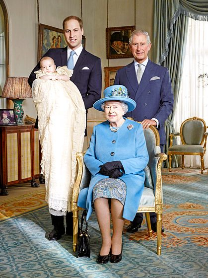 "A Historic Occasion (The ""Royal Flush"" photo:  four generations of royals, a monarch, and three future monarchs."