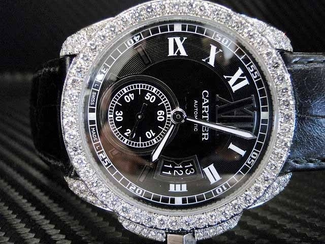 17 best images about jeweled watches diamond custom cartier calibre men s diamond watch