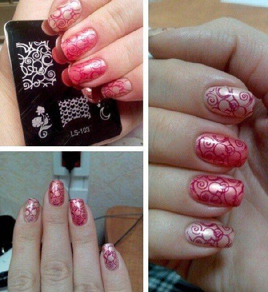 Lesly Stamping Nail Art - http://yournailart.com/lesly-stamping-nail-art-30/ - #nails #nail_art #nails_design #nail_ ideas #nail_polish #ideas #beauty #cute #love