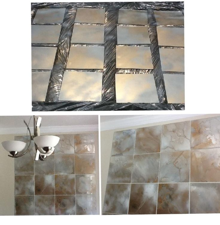 3 Step Art Project: spray paint mirrors, pour on acetone, and then set on fire