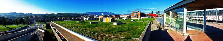 Vista panorámica desde el HUCA (Hospital Universitario Central de Asturias). Oviedo. Concejo de Oviedo. Principado de Asturias. Spain. [By Valentín Enrique].